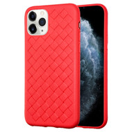 *Sale* Woven Designer Ultra Soft TPU Case for iPhone 11 Pro - Red