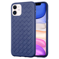 Woven Designer Ultra Soft TPU Case for iPhone 11 - Navy Blue