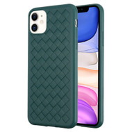 Woven Designer Ultra Soft TPU Case for iPhone 11 - Midnight Green