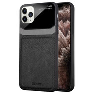 CameraShield Leather-Style Case with Plexiglass Lens Protection for iPhone 11 Pro Max - Black