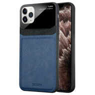 CameraShield Leather-Style Case with Plexiglass Lens Protection for iPhone 11 Pro Max - Navy Blue