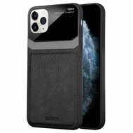 CameraShield Leather-Style Case with Plexiglass Lens Protection for iPhone 11 Pro - Black