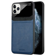 CameraShield Leather-Style Case with Plexiglass Lens Protection for iPhone 11 Pro - Navy Blue