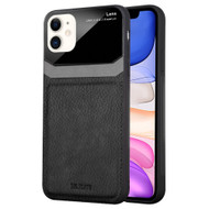 CameraShield Leather-Style Case with Plexiglass Lens Protection for iPhone 11 - Black