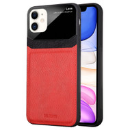 *Sale* CameraShield Leather-Style Case with Plexiglass Lens Protection for iPhone 11 - Red