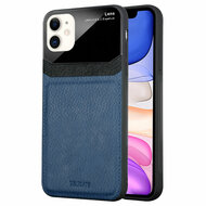*Sale* CameraShield Leather-Style Case with Plexiglass Lens Protection for iPhone 11 - Navy Blue