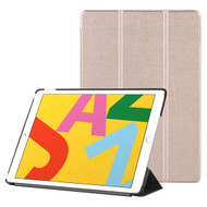 Smart Leather Folio Hybrid Case for iPad 10.2 inch (7th Generation) - Gold