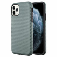 Carbon Fiber Hybrid Case for iPhone 11 Pro - Dark Grey