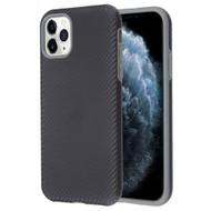 Carbon Fiber Hybrid Case for iPhone 11 Pro - Black Grey