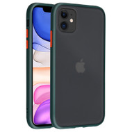 Frost Semi Transparent Hybrid Case for iPhone 11 - Midnight Green