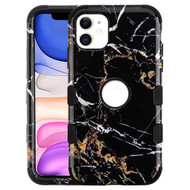 Military Grade Certified TUFF Hybrid Armor Case for iPhone 11 - Marble Black