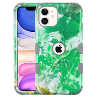 Military Grade Certified TUFF Hybrid Armor Case for iPhone 11 - Marble Green