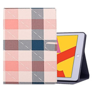 Book-Style Leather Folio Case with Kickstand Feature for iPad 10.2 inch (7th Generation) - Plaid