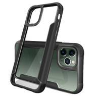 Transparent Shield Hybrid Armor Case with Aircraft Aluminum Side Grip for iPhone 11 Pro - Black