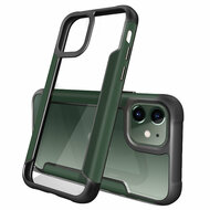 *Sale* Transparent Shield Hybrid Armor Case with Aircraft Aluminum Side Grip for iPhone 11 - Midnight Green