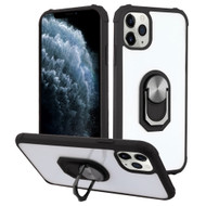 *Sale* Ultra Hybrid Transparent Case with 360° Rotating Ring Holder for iPhone 11 Pro - Black