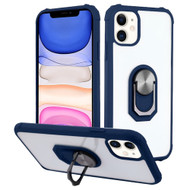*Sale* Ultra Hybrid Transparent Case with 360° Rotating Ring Holder for iPhone 11 - Navy Blue