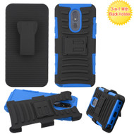 Advanced Armor Hybrid Kickstand Case with Holster Belt Clip for LG Stylo 5 - Blue
