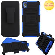 Advanced Armor Hybrid Case with Belt Clip Holster for Motorola Moto E6 - Blue