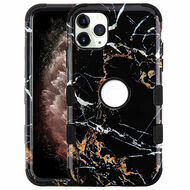 Military Grade Certified TUFF Hybrid Armor Case for iPhone 11 Pro Max - Marble Black