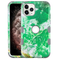 Military Grade Certified TUFF Hybrid Armor Case for iPhone 11 Pro Max - Marble Green