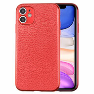 Executive Slim Shield Leather Fusion Case for iPhone 11 - Red