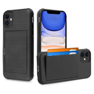 Stash Credit Card Hybrid Armor Case for iPhone 11 - Black