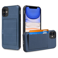 Stash Credit Card Hybrid Armor Case for iPhone 11 - Navy Blue