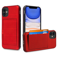 Stash Credit Card Hybrid Armor Case for iPhone 11 - Red