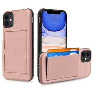 Stash Credit Card Hybrid Armor Case for iPhone 11 - Rose Gold