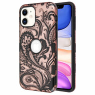 TUFF Subs Hybrid Armor Case for iPhone 11 - Phoenix Flower Rose Gold