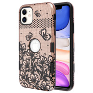 TUFF Subs Hybrid Armor Case for iPhone 11 - Lace Flowers Rose Gold