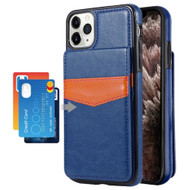 Flap Leather Wallet Fusion Case for iPhone 11 Pro Max - Navy Blue
