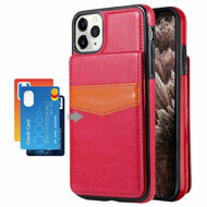 Flap Leather Wallet Fusion Case for iPhone 11 Pro Max - Hot Pink