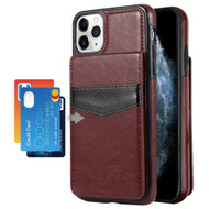 Flap Leather Wallet Fusion Case for iPhone 11 Pro - Brown