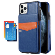 Flap Leather Wallet Fusion Case for iPhone 11 Pro - Navy Blue