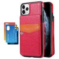Flap Leather Wallet Fusion Case for iPhone 11 Pro - Hot Pink