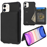 Pocket Wallet Case with Stand for iPhone 11 - Black