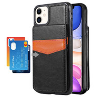 Flap Leather Wallet Fusion Case for iPhone 11 - Black
