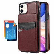 Flap Leather Wallet Fusion Case for iPhone 11 - Brown