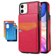 Flap Leather Wallet Fusion Case for iPhone 11 - Hot Pink