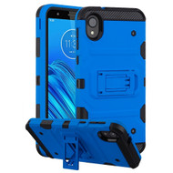 Military Grade Certified Storm Tank Hybrid Armor Case with Stand for Motorola Moto E6 - Blue