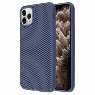 Perforated Ultra Slim Protective TPE Case for iPhone 11 Pro Max - Navy Blue