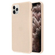 Perforated Ultra Slim Protective TPE Case for iPhone 11 Pro Max - Melon Pink