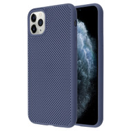 Perforated Ultra Slim Protective TPE Case for iPhone 11 Pro - Navy Blue