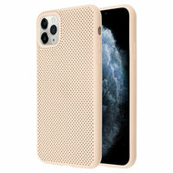 Perforated Ultra Slim Protective TPE Case for iPhone 11 Pro - Melon Pink