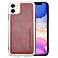 High Pro Shield Leather Fusion Case for iPhone 11 - Burgundy