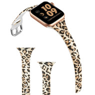 Slim Band Design Silicone Watch Strap for Apple Watch 44mm / 42mm - Cheetah