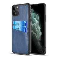 Duokase Executive Leather-Style Wallet Case for iPhone 11 Pro Max - Navy Blue