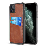 *Sale* Duokase Executive Leather-Style Wallet Case for iPhone 11 Pro - Brown